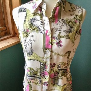 CAbi 100% Silk Blouse